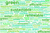 Clean Sustainable Renewable Energy Word Cloud Concept — Stock Vector