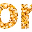 Corn Word Made Of Corn Seeds — Stock Photo #40213065