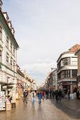 Tourists Walking Downtown — Stock Photo