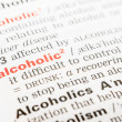 Alcoholic Word Definition In Dictionary — Stock Photo #40903269