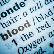Blood Word Definition In Dictionary — Stock Photo #40944377