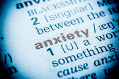 Anxiety Word Definition In Dictionary — Stock Photo