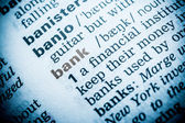 Bank Word Definition In Dictionary — Stock Photo