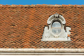 средневековый дом крыша — Стоковое фото