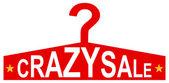 Clothes Store Coat Rack Crazy Sale — Stock Vector
