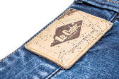 Lee Cooper Sign On Modern Blue Jeans — Stock Photo