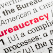 Stock Photo: Bureaucracy Word Definition