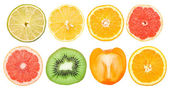 Healthy Fruit Slices Collection — Foto Stock