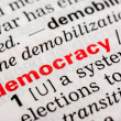 Stock Photo: Democracy Word Definition