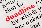Deadline Word Definition — 图库照片