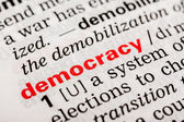 Democracy Word Definition — Stock Photo