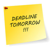 Deadline Tomorrow Message — Stockvektor