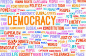 Democracy Word Cloud — Stock Vector