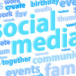 Social Media Background — Stock Photo