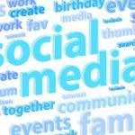 sociala medier bakgrund — Stockfoto