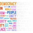 Stock Vector: Democracy Word Cloud
