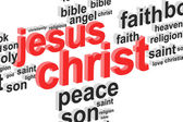 Jesus Christ Word Cloud — Stock Photo