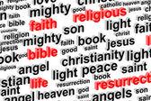 Nube parola religione — Foto Stock
