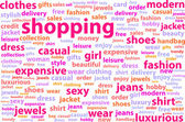 Shopping Word Cloud Concept — Stock Vector