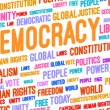 Stock Photo: Democracy Word Cloud