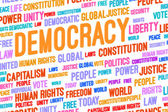 Democracy Word Cloud — Stock Photo