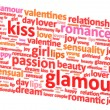Stock Vector: Valentine Word Cloud Concept