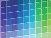 Cold Colored Squares Palette — Stock Photo