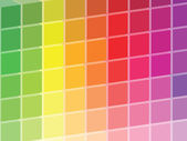 Rainbow Colored Squares Palette — Stock Photo