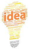 Bright Light Bulb Idea — Stock Vector