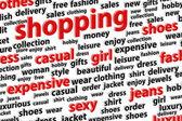 Shopping Spree Word Cloud — Stock Photo
