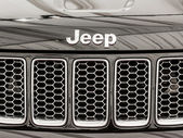 Jeep Grand Cherokee Sign — Stock Photo