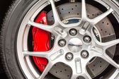 Ford GT Sign On Wheel And Break Pad — Stock Photo