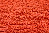 Orange Bath Towel Texture — Stock Photo