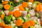 Chicken, Broccoli And Carrots — Stock Photo