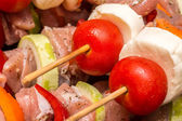 Skewers Prepared For Barbecue — Stock Photo