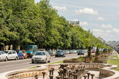 Rush Hour Traffic On Unification Boulevard — Stock Photo