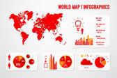 世界地图信息图形 — 图库矢量图片