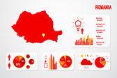 Romania Infographics Map — Stock Vector