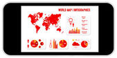 World Map Infographics — Stock Vector