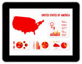 United States Of America Infographics — Stock Vector