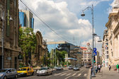 Victory Avenue In Bucharest — Stock Photo