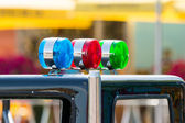 Blue, Red And Green Sirens — Stock Photo
