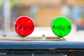 Red And Green Sirens — Stock Photo