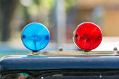 Blue And Red Sirens — Stock Photo