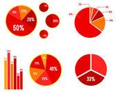 Gráficos e estatísticas gráficas de bar — Vetor de Stock