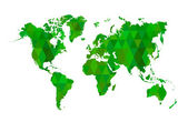 Green Map Of The World Abstract — Stok Vektör