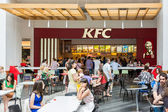 People Eating At Local Kentucky Fried Chicken Restaurant — Stock Photo