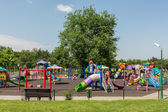 Happy Children Having Fun On Playground — Stock Photo