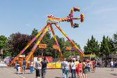 People Having Fun In Amusement Park — Stock Photo