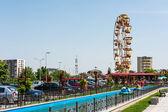 Youths Public Amusement Park View — Stock Photo